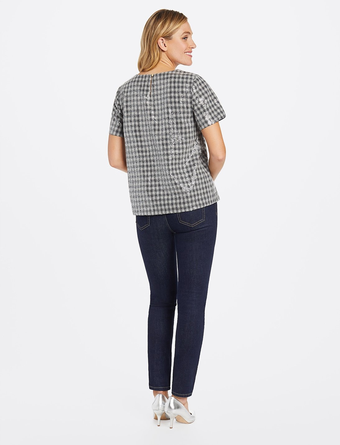 DRAPER JAMES Collection Sequin Top