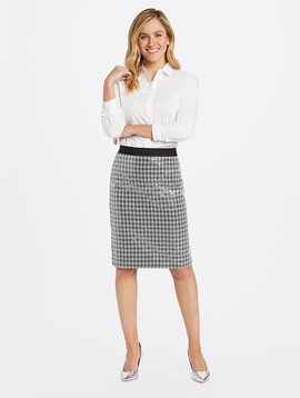DRAPER JAMES Sequin Pencil Skirt