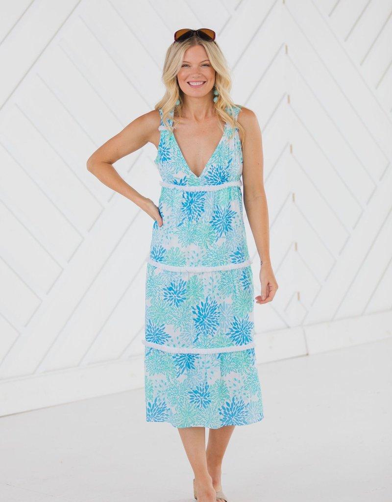 SAIL TO SABLE Tiered Midi Dress