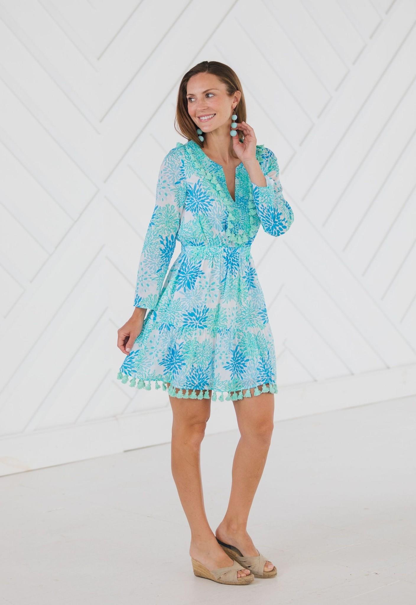 SAIL TO SABLE Ruffle Hem Tassel Dress