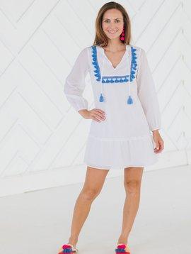 Tassel Front Flounce Dress