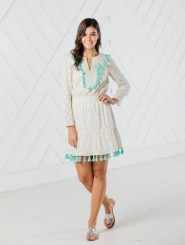 LONG SLEEVE TASSEL DRESS