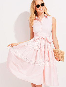 vineyard vines Palm Beach Lately Tiered Eyelet Shirt Dress