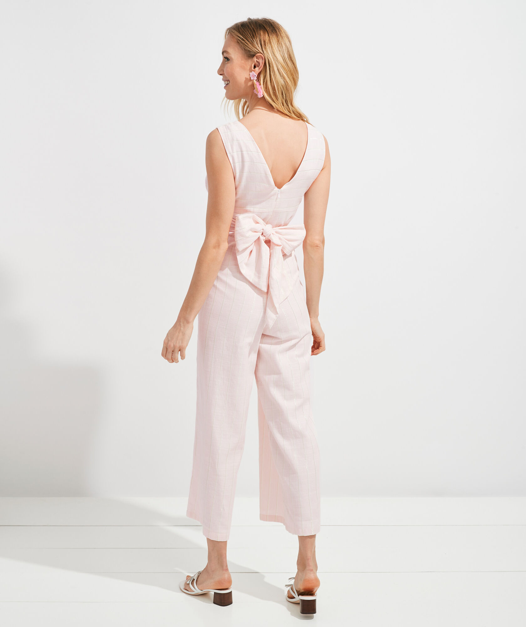 vineyard vines Palm Beach Lately Striped Wrap Jumpsuit