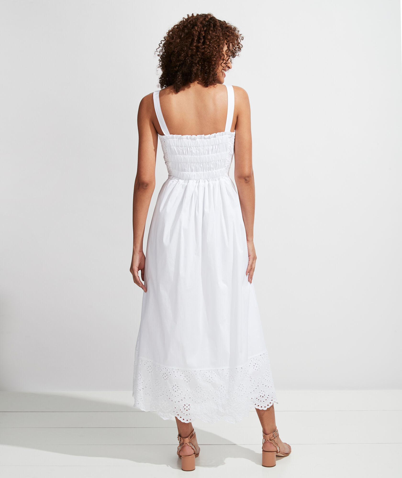 vineyard vines Palm Beach Lately Smocked Eyelet Maxi Dress