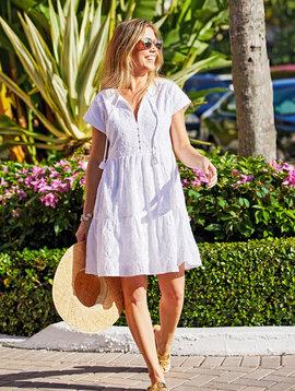 vineyard vines Island Eyelet Tiered Swing Dress