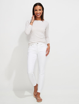 vineyard vines Jamie High-Rise White Jeans