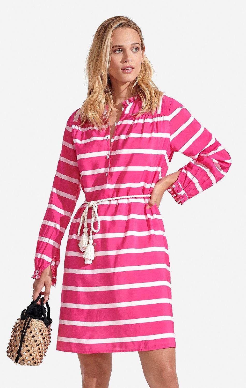 Delfina Dress Striped Super Pink