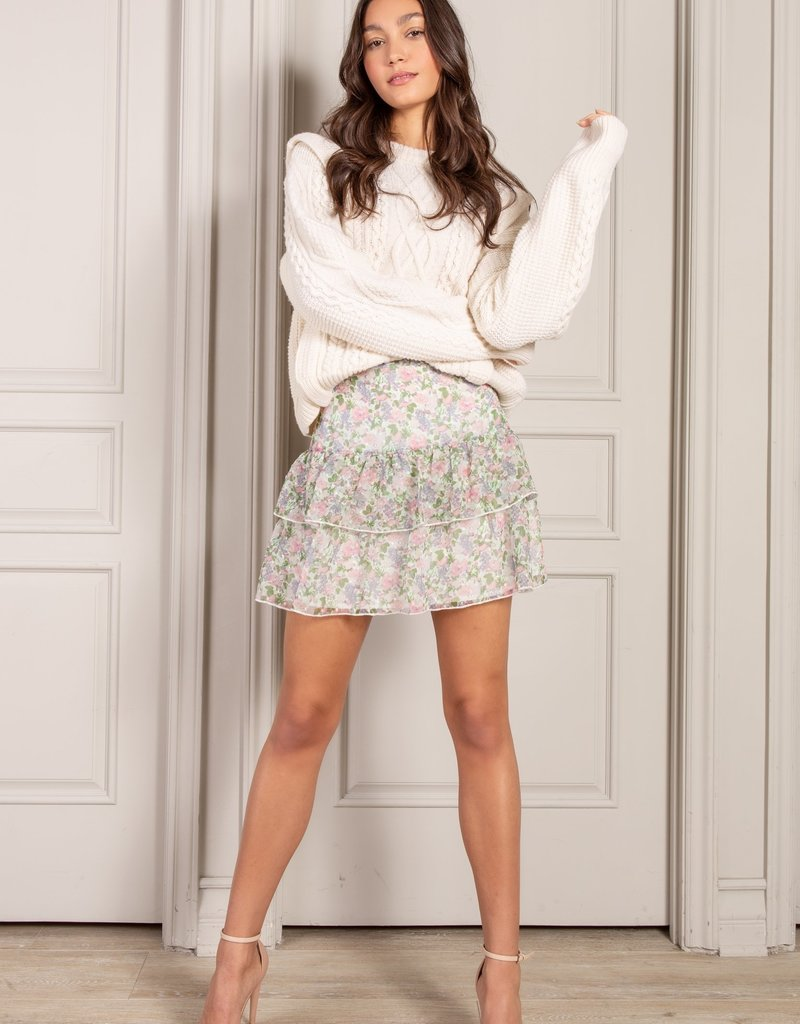 senlis Corrine Ruffle mini skirt