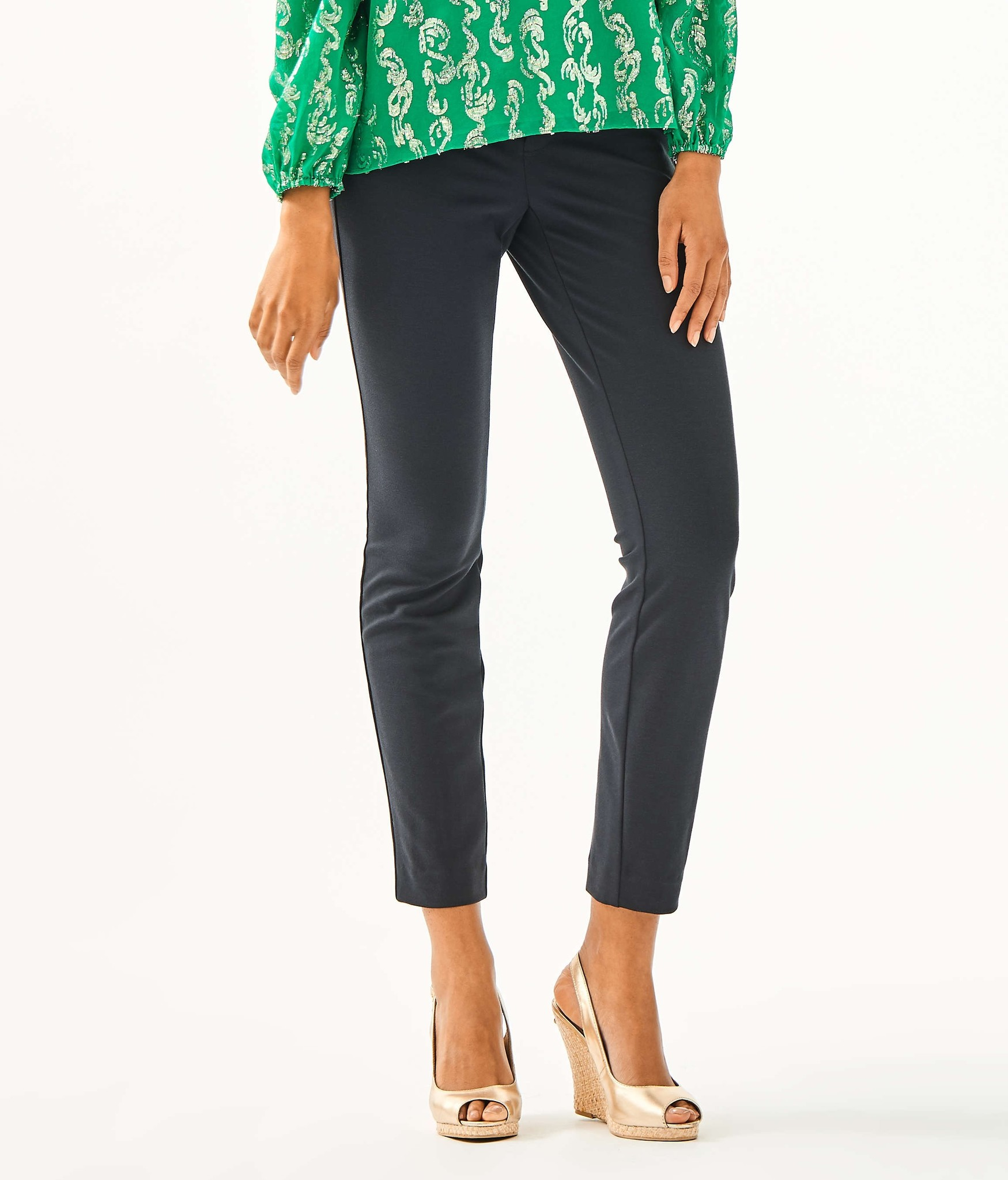 Kelly High Rise Knit Skinny Ankle Pant