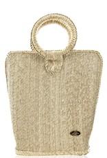 JOSEPHINE ALEXANDER Quina straw bucket bag large