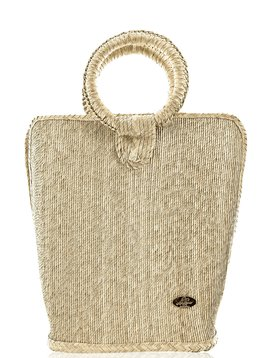 Quina straw bucket bag large