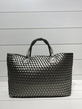 Market bag Silver Grey