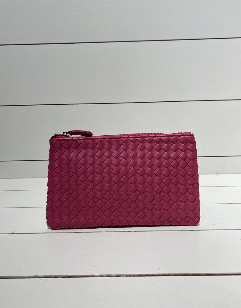 PREPPY GIRL clutch hot pink