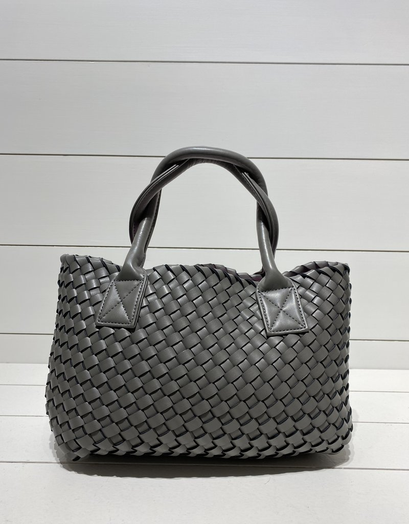 PREPPY GIRL Market Bag Mini grey