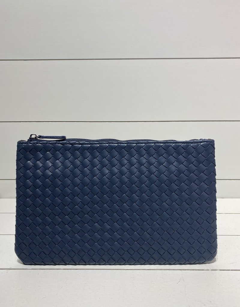 PREPPY GIRL Envelope clutch navy