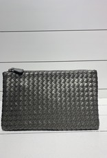 PREPPY GIRL Envelope clutch silver grey