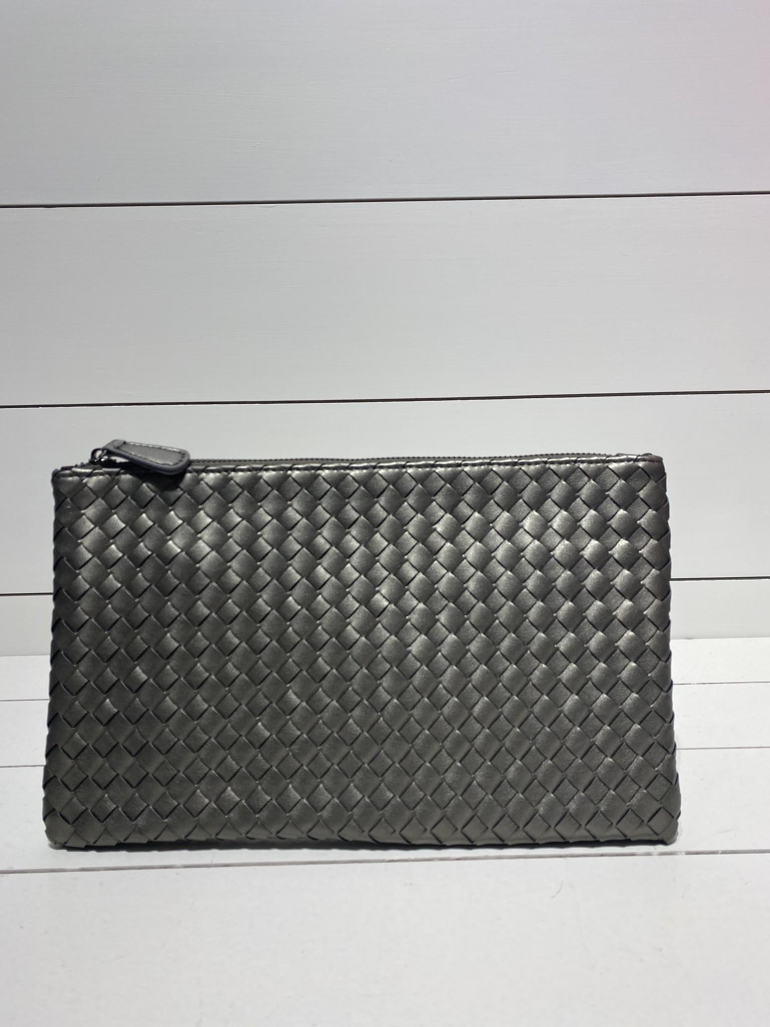 Envelope clutch shimmer grey