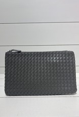 PREPPY GIRL Envelope clutch grey