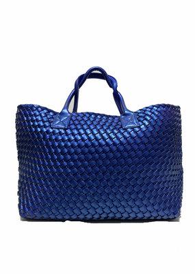 PREPPY GIRL Market bag Metallic Blue