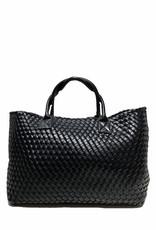 PREPPY GIRL Market bag Black Shimmer
