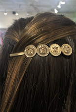 CB Designs triple coin barrette
