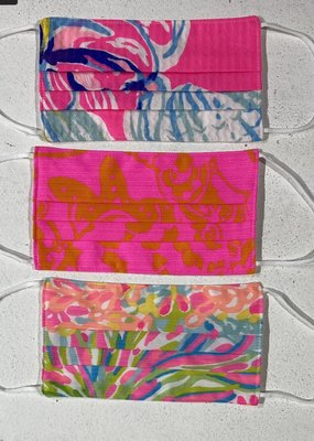 LILLY PULITZER Adult Face Masks set of 3