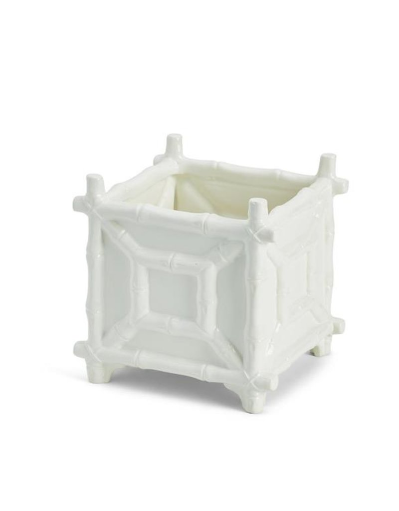 TWO'S COMPANY Faux Bamboo Cachepot