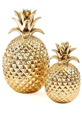 TWO'S COMPANY Golden Pineapple Small