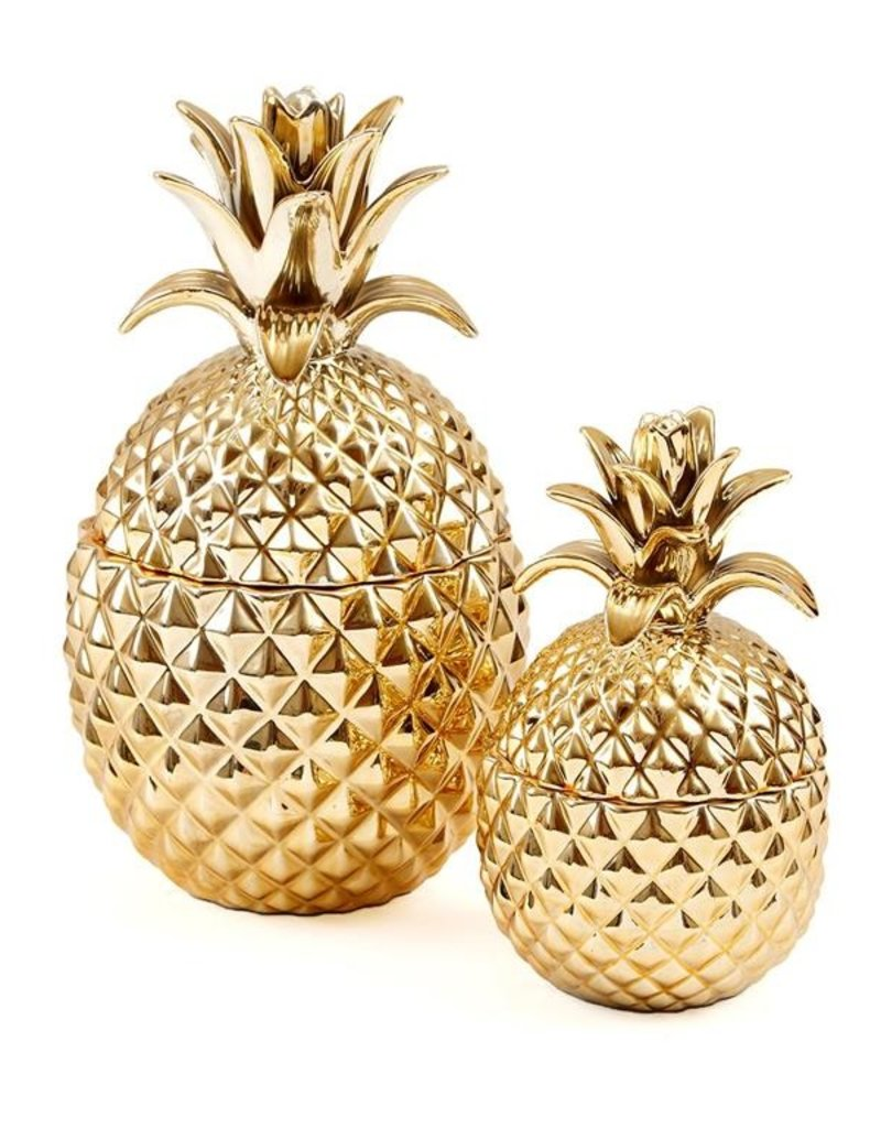 TWO'S COMPANY Golden Pineapple Large