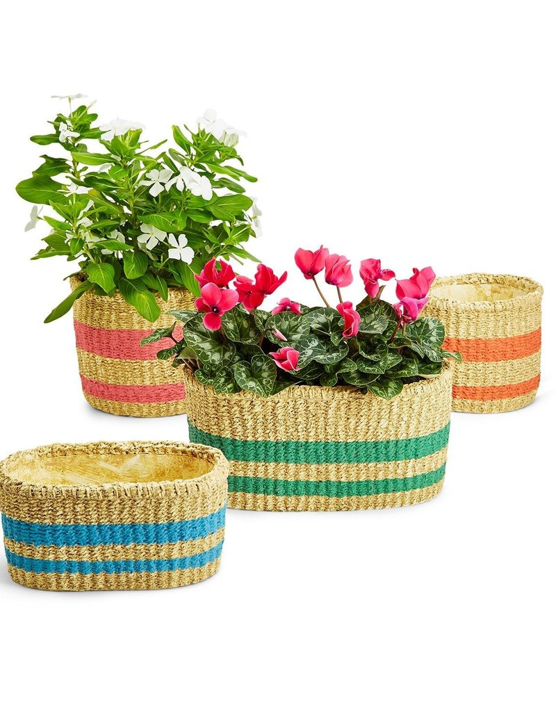 TWO'S COMPANY Oval Garden Planter Large
