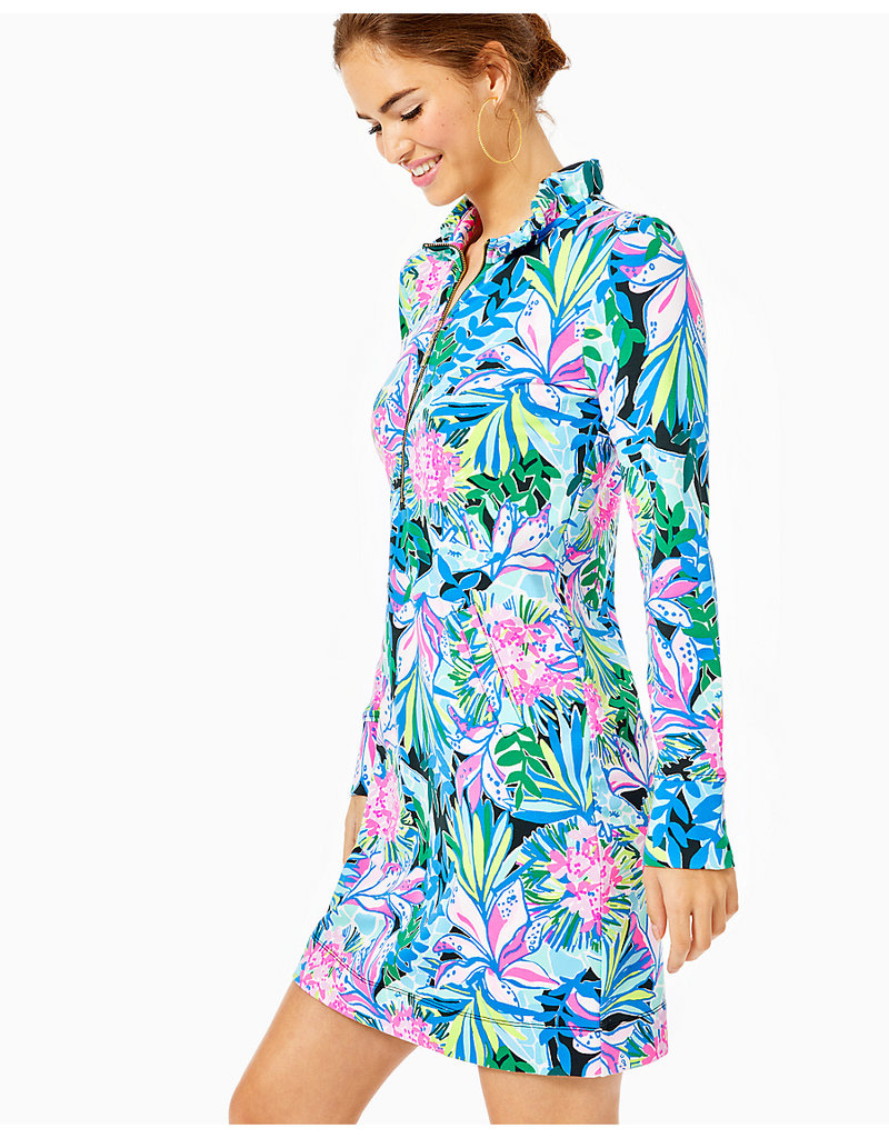 LILLY PULITZER R20 007890 UPF 50+ SKIPPER RUFFLE DRESS