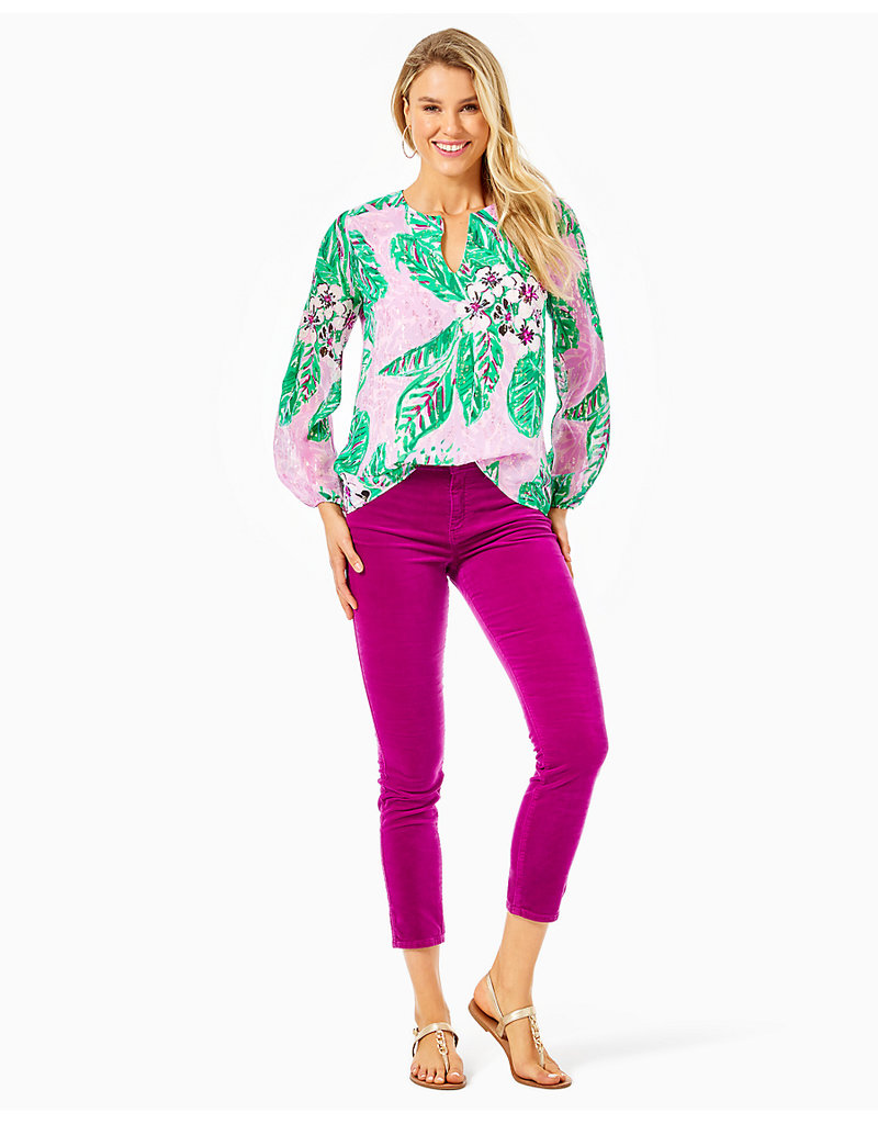 LILLY PULITZER R20 007896 AARON SILK TOP