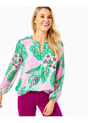 LILLY PULITZER AARON SILK TOP
