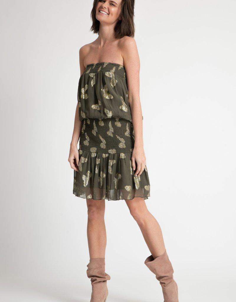 Muche et Muchette 1431pl papillion smocked tube dress