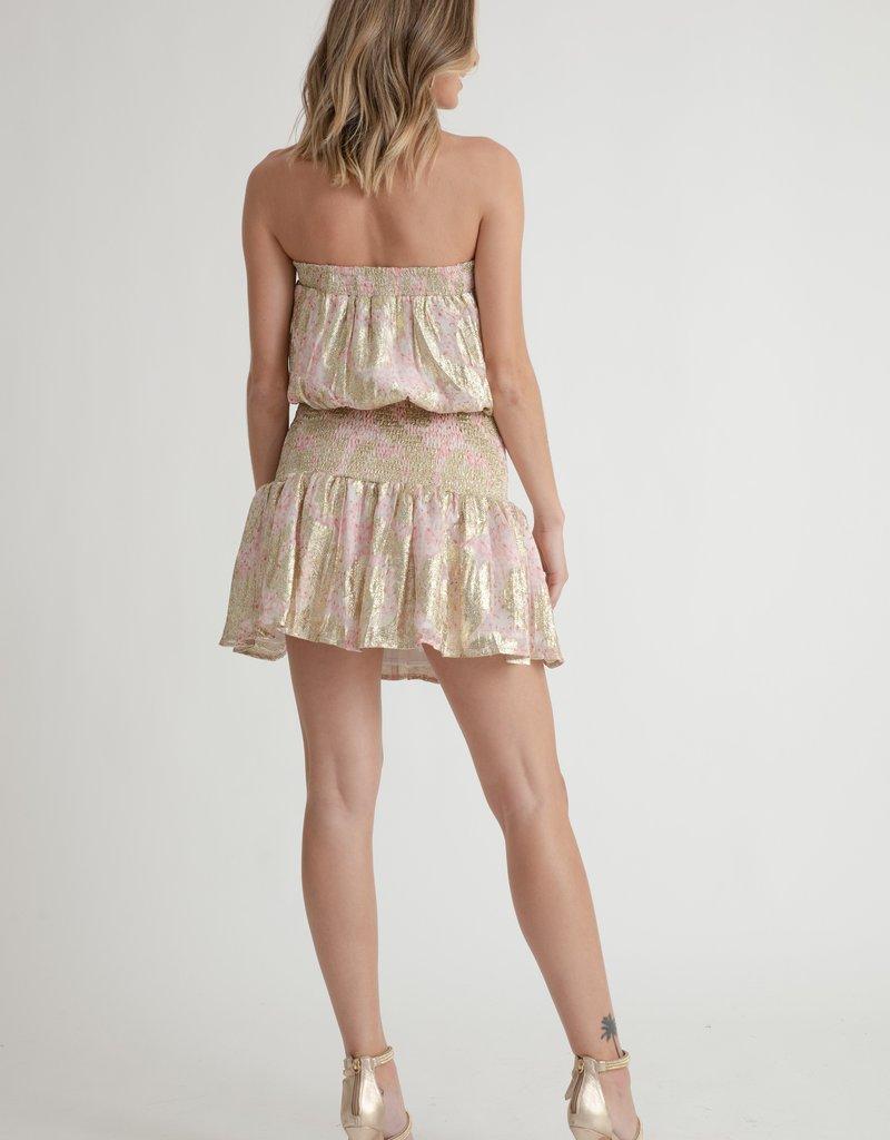 Muche et Muchette 1431ax anouk brocade lurex tube dress