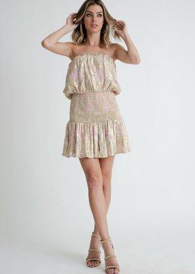 Muche et Muchette Anouk Brocade Lurex Tube dress