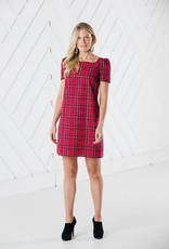 SAIL TO SABLE h2005 red plaid multi dress