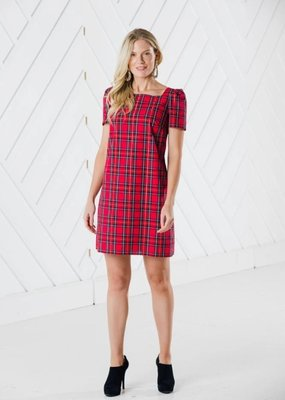 SAIL TO SABLE Red Plaid Multi Dress