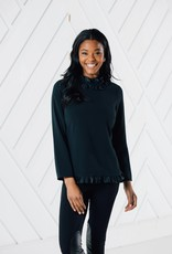 SAIL TO SABLE h2032 LONG SLEEVE DOUBLE RUFFLE TOP