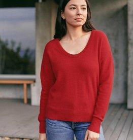 WHITE + WARREN Cashmere Scoop Neck Sweater