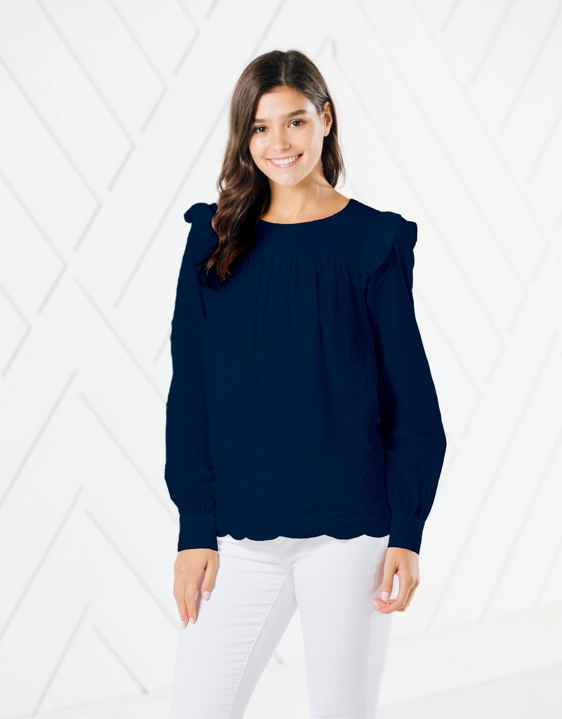 SAIL TO SABLE SU2067 Embr LS Top