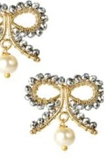LISI LERCH Little bow pearl drop