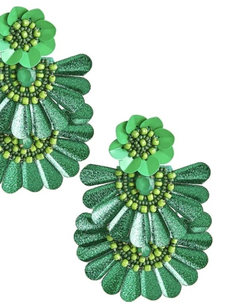 LISI LERCH Natalie earring emerald