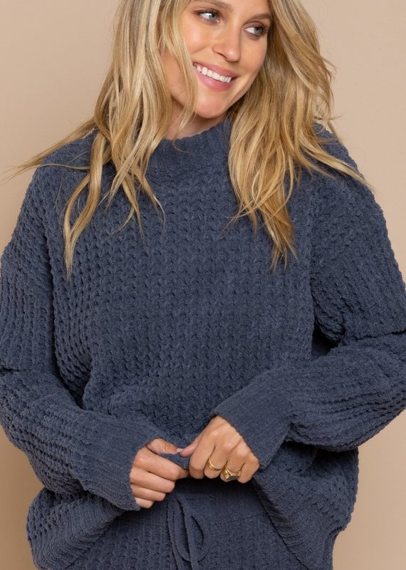 Sweater Top Waffle Weave