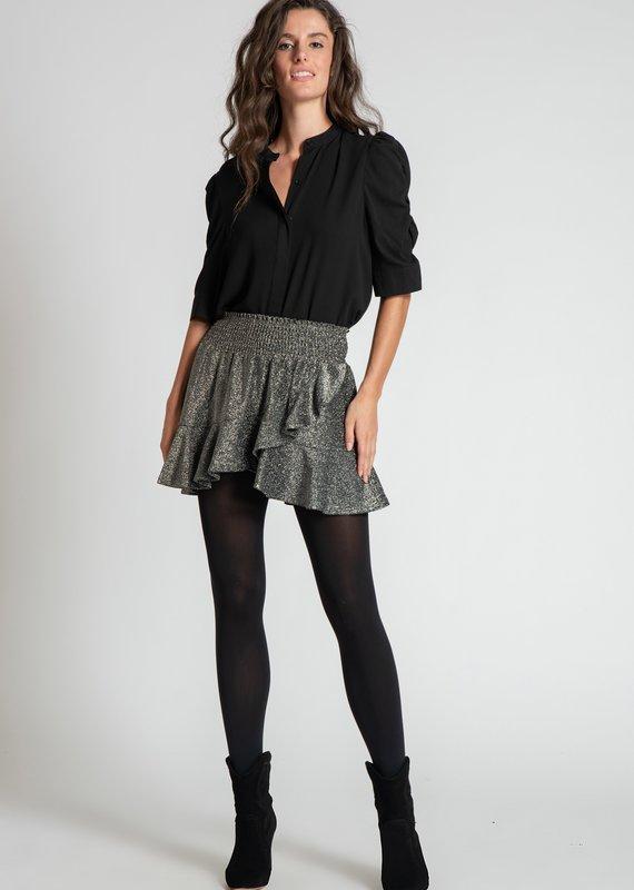 Muche et Muchette Sasha lurex hem skirt silver/black