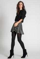 Muche et Muchette 1090sls sasha lurex hem skirt silver/black