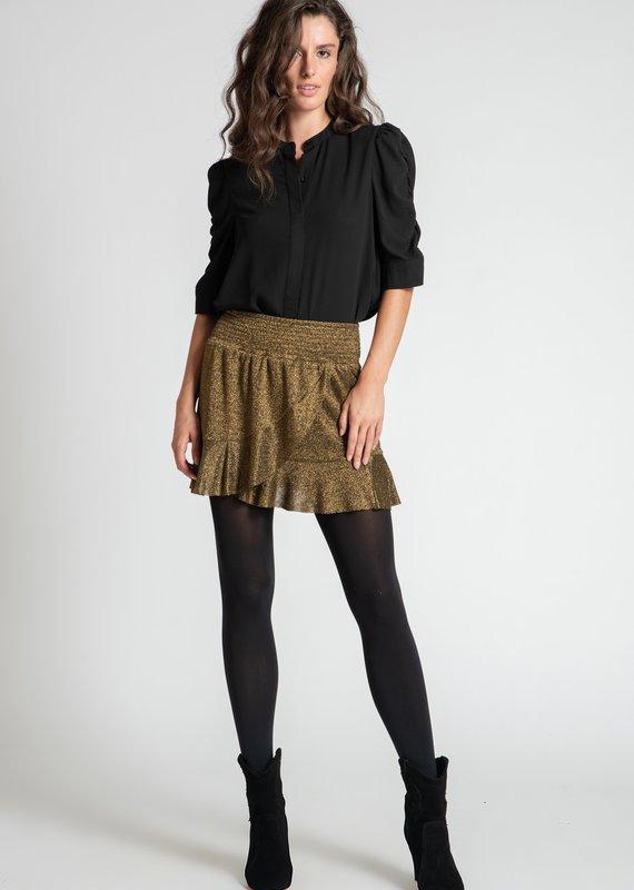 Muche et Muchette Zea lurex skirt black/gold