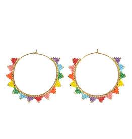 caryn lawn kona hoop earrings