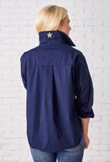caryn lawn preppy  star shirt